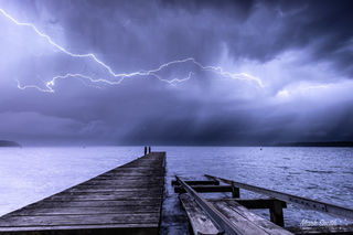Lake Tarawera Lightning