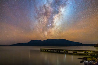 Lake Tarawera Milky Way Rising