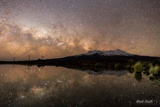 Mount Ruapehu Milky Way Reflections