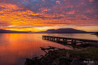 Lake Tarawera Vivid Sunrise